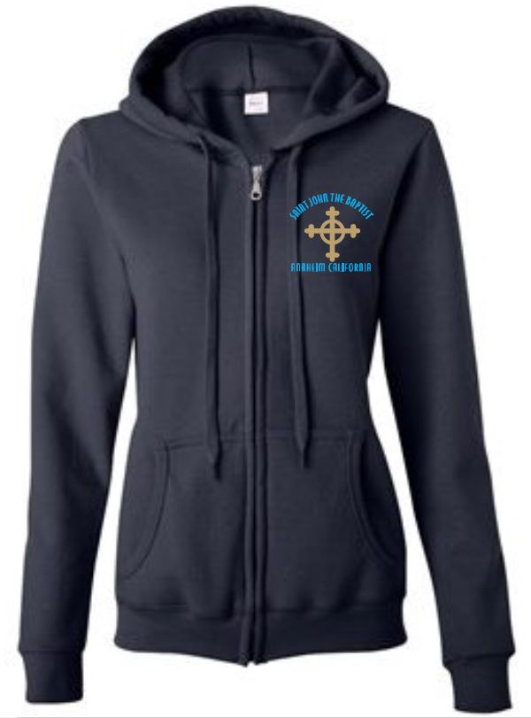 Ladies Fit Zip Front Sweatshirt